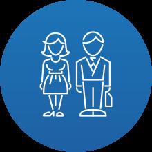 Dipendenti Privati: icona rappresentativa di due dipendenti privati