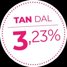 TAN dal 3,23%